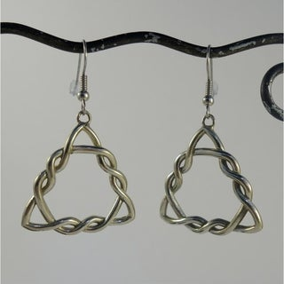 Celtic Knot Triangle Dangle Earrings (Indonesia)