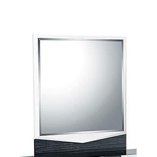 White/Gray Hudson Mirror