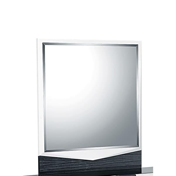 White/Gray Hudson Mirror