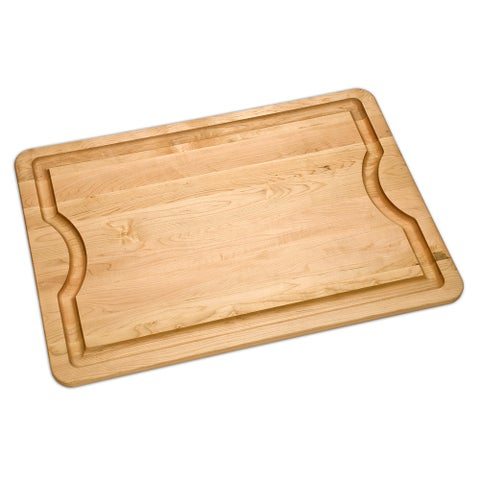 JK Adams Maple Long BBQ Board and Mineral Oil