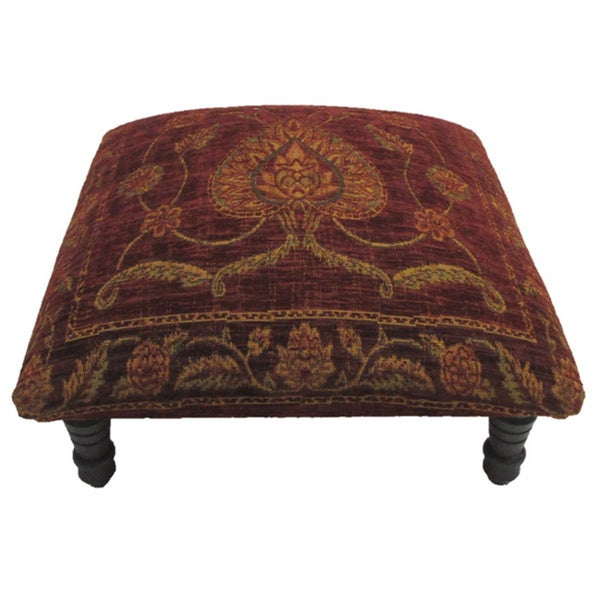Corona Decor Victorian Design Hand-woven Footstool