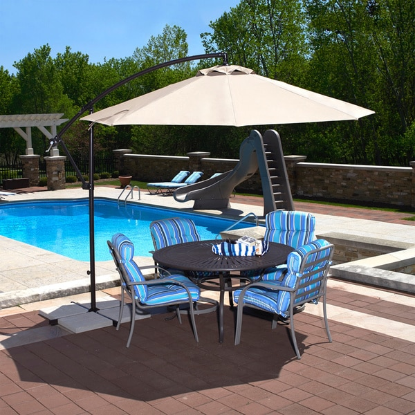 santiago 10 foot octagonal cantilever umbrella free shipping today