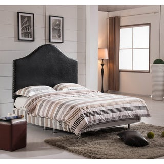 Classic Queen Size Headboard with Nailhead Trim