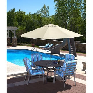Spring-Up 9-foot Octagonal Champagne Olefin Market Umbrella