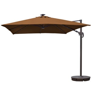 Santorini II Fiesta 10-foot Square Cantilever Umbrella (3 options available)