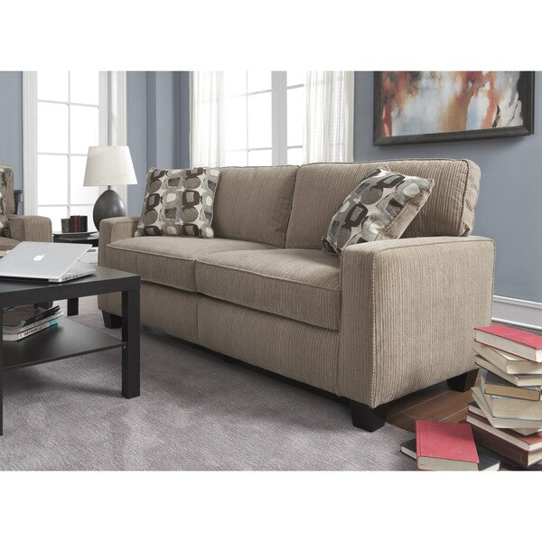 Serta RTA Santa Cruz Collection 78 Inch Platinum Fabric Sofa