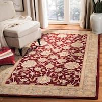 Safavieh Handmade Anatolia Oriental Red/ Green Hand-spun Wool Rug (12' x 15') - 12' x 15'