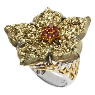 Michael Valitutti Two-tone Choice of Druzy and Gemstone 'Flower' Ring (More options available)