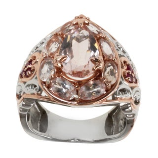 Michael Valitutti Two-tone Morganite and Pink Sapphire Ring