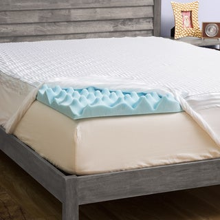 Grande Hotel Collection 4-inch Big Comfort Gel Memory Foam Mattress Topper with Polysilk Cover