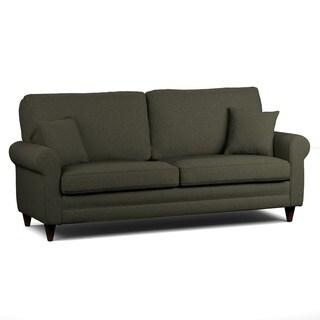 Handy Living Bradley Basil Green Linen SoFast Sofa