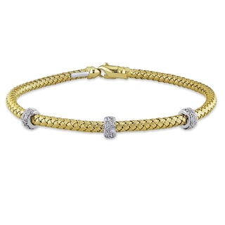 Miadora Signature Collection 14k Yellow Gold 2/5ct TDW Diamond Bracelet (G-H, SI1-SI2)