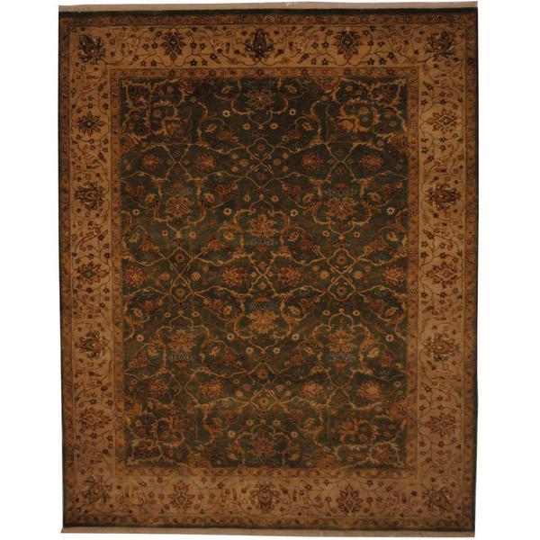 Handmade Herat Oriental Indo Tabriz Wool Rug - 7' x 8'9 (India)