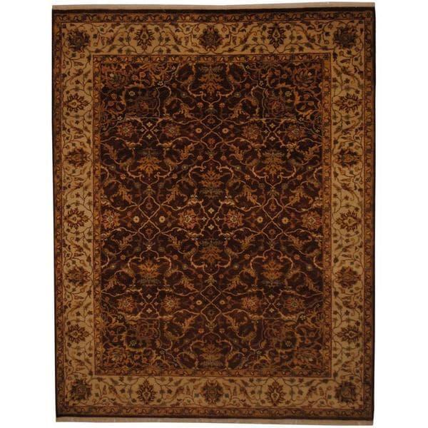 Handmade Herat Oriental Indo Tabriz Wool Rug (India) - 7' x 8'10