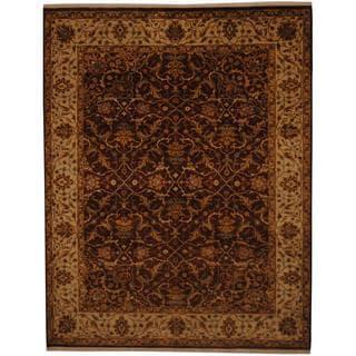 Herat Oriental Indo Hand-knotted Tabriz Wool Rug (7' x 8'10)