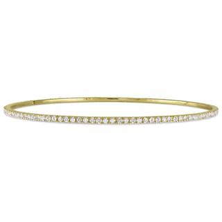 Miadora Signature Collection Yellow Plated Silver 2 1/4ct TDW Diamond Bracelet (H-I, I2-I3)