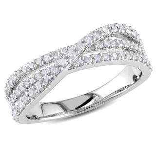 Miadora Sterling Silver 1/2ct TDW Diamond Ring (H-I I2-I3)