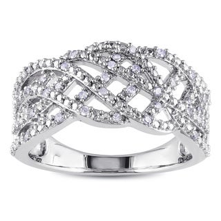Miadora Sterling Silver 1/5ct TDW Diamond Ring (H-I, I2-I3)