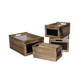 2 sets of 4 storage box with chalkboard