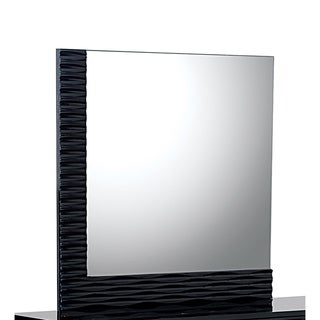 Black High Gloss Manhattan Mirror
