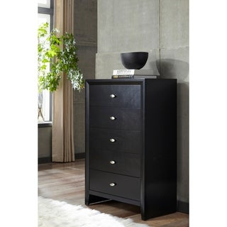 Black Carolina 5-drawer Chest