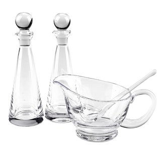 Clear Crystal 4-piece Hostess Set