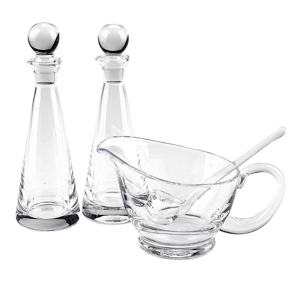 Perfect Tablecraft Olive Oil Dispenser Clear Crystal 4 Piece Hostess Set   Free  Shipping Today