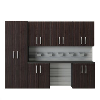 Flow Wall 7-piece Wood Cabinet Set