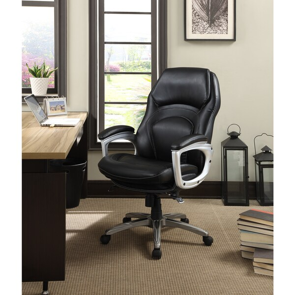 Charmant Exceptional Back In Motion Chair #22   Serta Works Bonded Leather Executive  Office Chair With Back In Motion Technology