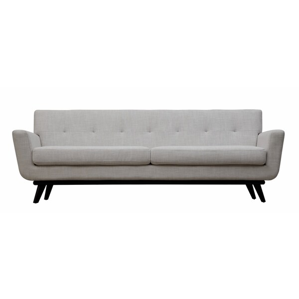 Calvin beige linen modern sofa free shipping today for Modern contemporary linen sectional sofa with