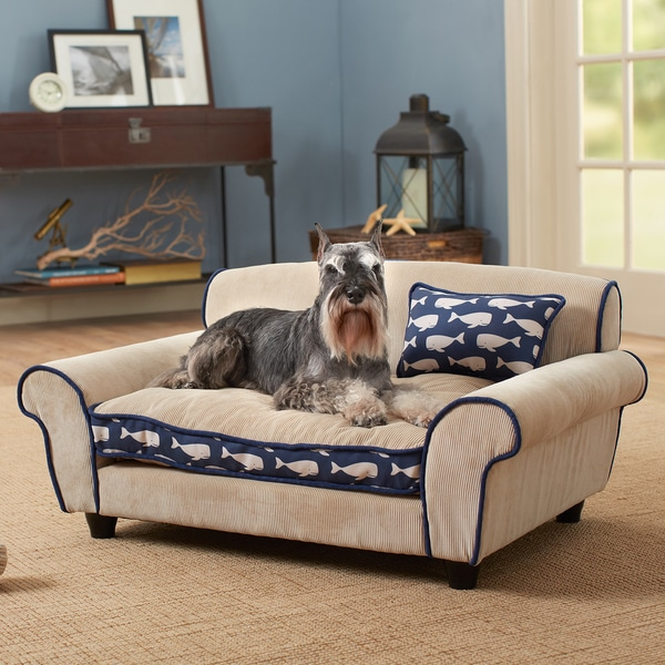 Shop Mattituck Blue Tan Furniture Pet Bed Free Shipping