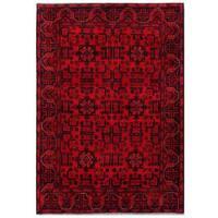 Handmade Herat Oriental Afghan Tribal Khal Mohammadi Wool Rug (Afghanistan) - 4'4 x 6'3