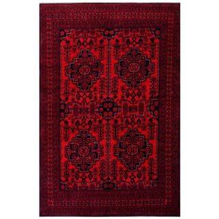 Herat Oriental Afghan Hand-knotted Tribal Khal Mohammadi Wool Rug (6'3 x 9'5)