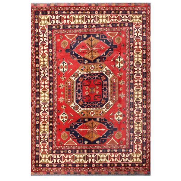 Handmade Herat Oriental Afghan Tribal Kargahi Wool Rug - 7'8 x 10'10 (Afghanistan)