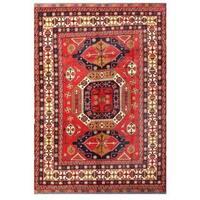 Herat Oriental Afghan Hand-knotted Tribal Kargahi Wool Rug - 7'8 x 10'10