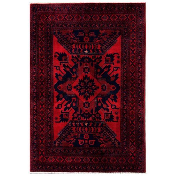 Handmade Herat Oriental Afghan Tribal Khal Mohammadi Wool Rug (Afghanistan) - 4'4 x 6'6