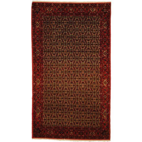 Herat Oriental Persian Hand-knotted Bidjar Wool Rug (4'5 x 7'9)
