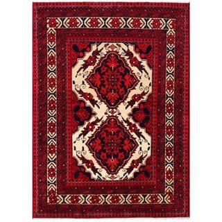 Herat Oriental Afghan Hand-knotted Tribal Khal Mohammadi Wool Rug (3'5 x 4'9)
