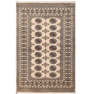 Herat Oriental Pakistani Hand-knotted Tribal Bokhara Wool Rug (4' x 6'2)