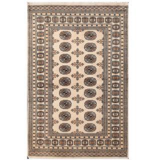 Handmade Bokhara Wool Rug (Pakistan) - 4' x 6'2