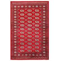 Handmade Herat Oriental Pakistani Tribal Bokhara Wool Rug  - 4'1 x 6'3 (Pakistan)