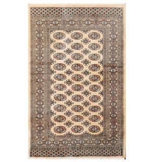 Herat Oriental Pakistani Hand-knotted Tribal Bokhara Wool Rug (3'10 x 6'2)