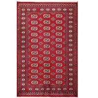 Handmade Herat Oriental Pakistani Tribal Bokhara Wool Rug  - 4'1 x 6'4 (Pakistan)