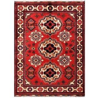 Herat Oriental Afghan Hand-knotted Tribal Kargahi Wool Rug (5' x 6'7)