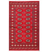 Herat Oriental Pakistani Hand-knotted Tribal Bokhara Wool Rug - 3'1 x 5'