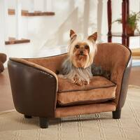 Enchanted Home Pet Ultra Plush Small Pebble Brown Pet Bed