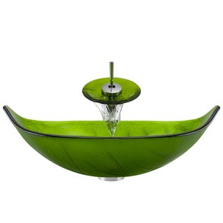 Polaris Sinks P906 Chrome Bathroom Ensemble (Vessel Sink, Waterfall Faucet, Pop-up Drain)
