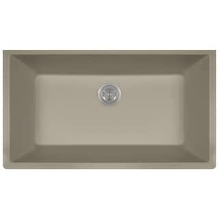 Polaris Sinks P848 Slate AstraGranite Single Bowl Kitchen Sink