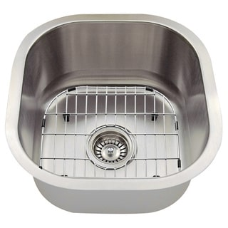 Attrayant The Polaris Sinks P6171 16 Gauge Kitchen Ensemble (Sink, Standard Strainer,  Sink