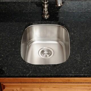 The Polaris Sinks P5181 16-gauge Kitchen Ensemble (Sink, Standard Strainer, Sink Grid, Cutting Board)